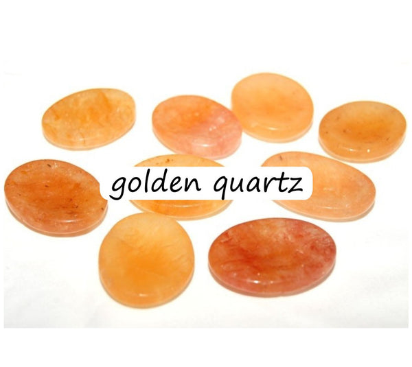 Worry Stones Golden Quartz