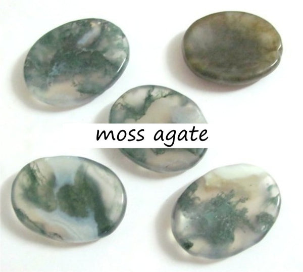 Worry Stones Moss Agate