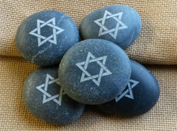 Set of 5 Star of David stones