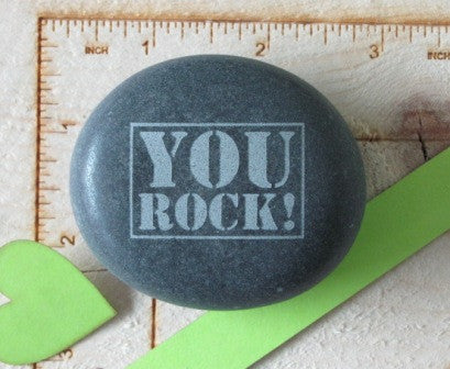 Quote- YOU ROCK! w/square border