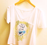 Cinderella Gold Floral Shirt | Disney Princess Cameo