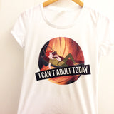 I Can't Adult Today Shirt | Never Grow Up | Disney Peter Pan