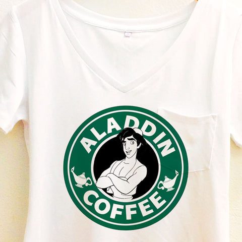 Aladdin Coffee Shirt | Disney Aladdin Starbucks | Disney