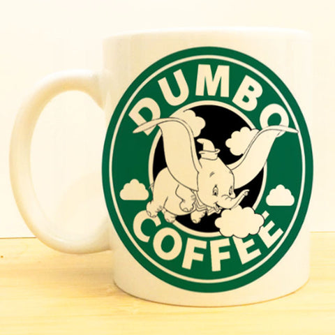Dumbo Coffee Mug |  Flying Elephant Starbucks |  Disney