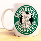 Megbucks Coffee Mug |  Hercules Love Starbucks |  Disney Princess