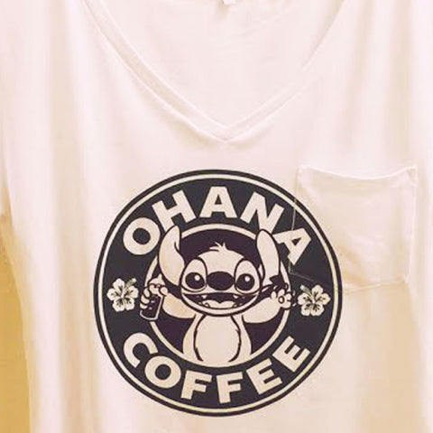 Stitch Coffee Pocket Shirt | Lilo and Stitch Disney