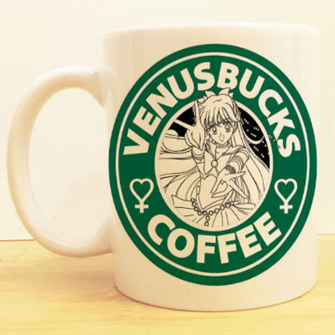 Venusbucks Coffee Mug |  Sailor Moon Starbucks | Anime Sailor Venus
