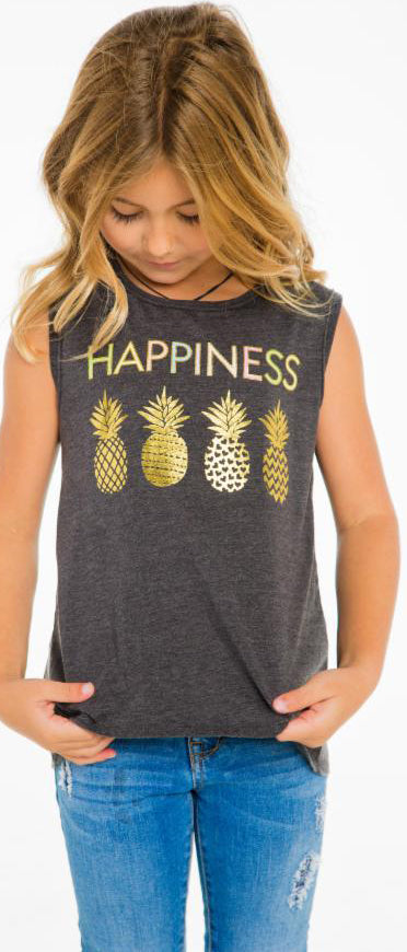 Chaser Happiness Pineapple Tank Basically Bows Amp Bowties