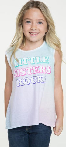 Chaser Little Sisters Rock Rainbow Tank - Basically Bows & Bowties