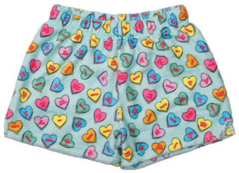 Iscream Candy Hearts Plush Shorts
