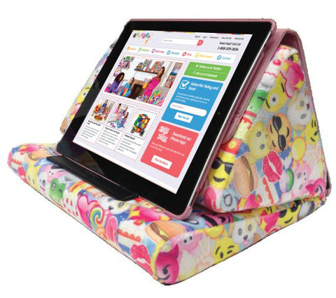Iscream Emoji Collage Tablet Pillow - Basically Bows & Bowties