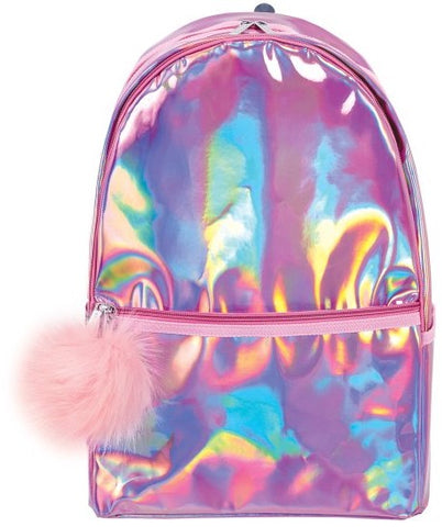 Iscream Pink Holographic Backpack - Basically Bows & Bowties