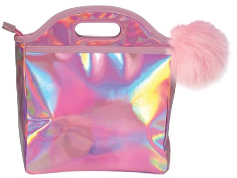 Iscream Pink Holographic Lunch Box - Basically Bows & Bowties