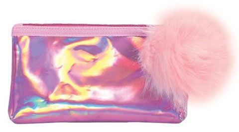 Iscream Pink Holographic Pencil Case - Basically Bows & Bowties