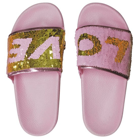 Iscream Love Reversible Sequin Slides - Basically Bows & Bowties