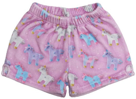 Iscream Unicorns and Stars Plush Shorts - Basically Bows & Bowties