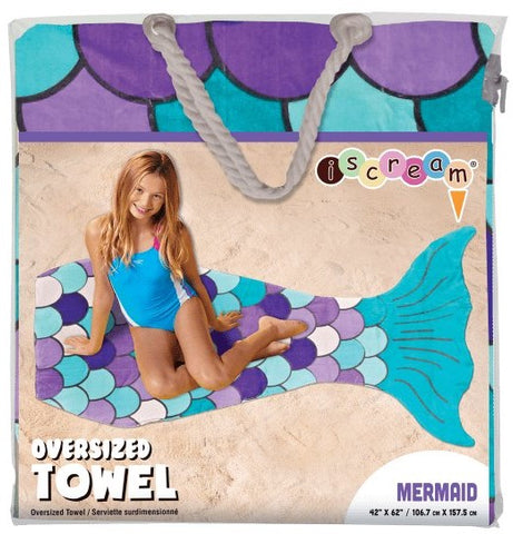 Iscream Mermaid Oversized Towel - Basically Bows & Bowties