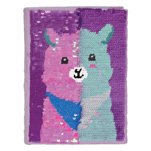 Iscream Llama Reversible Sequin Journal - Basically Bows & Bowties