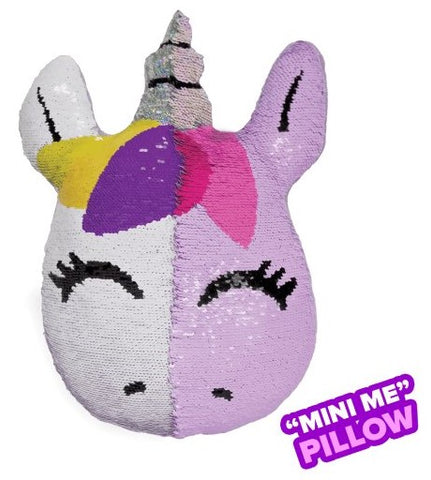 Iscream Mini Unicorn Reversible Sequin Pillow - Basically Bows & Bowties