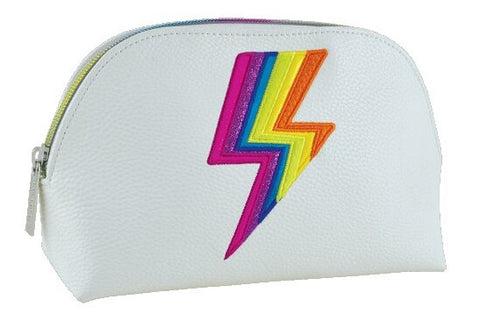 Iscream Rainbow Lightning Small Cosmetic Bag Basically Bows & Bowties