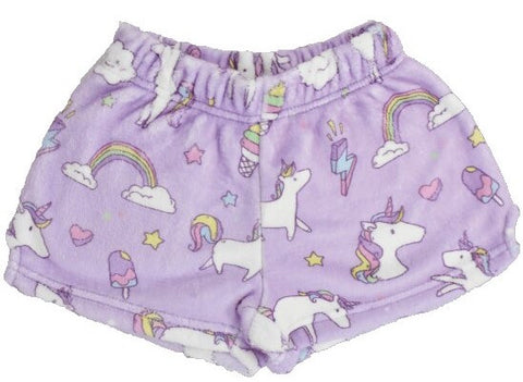 Iscream Unicorn Wishes Plush Shorts Basically Bows & Bowties
