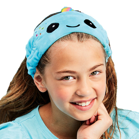 Iscream Rainbow Narwhal Towel Headband Basically Bows & Bowties