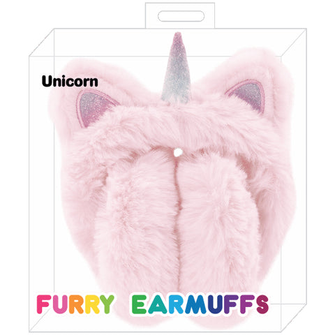 Iscream Unicorn Furry Earmuffs Basically Bows & Bowties