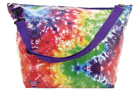 Iscream Rainbow Tie Dye Sequin Weekender Bag Basically Bows & Bowties