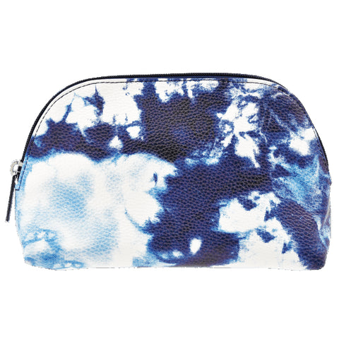 Iscream Blue Tie Dye Small Cosmetic Bag Basically Bows & Bowties