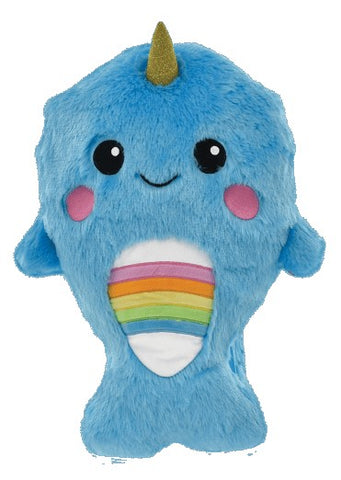 Iscream Rainbow Narwhal Furry Backpack Basically Bows & Bowties