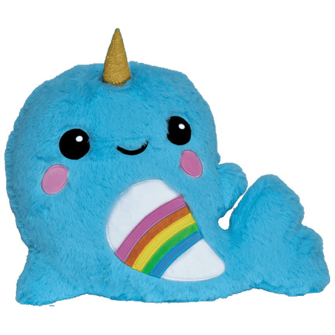 Iscream Rainbow Narwhal Furry Scented Pillow Basically Bows & Bowties