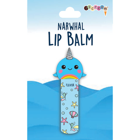 Iscream Rainbow Narwhal Lip Balm Basically Bows & Bowties
