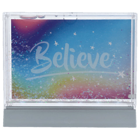 Iscream Color Changing Glitter Picture Frame Basically Bows & Bowties