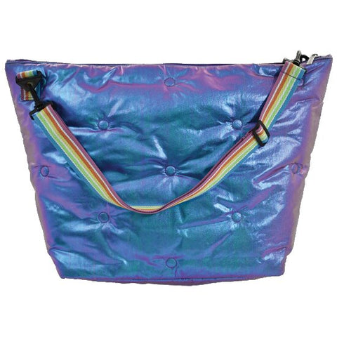 Iscream Shimmering Tufted Metallic Weekender Bag