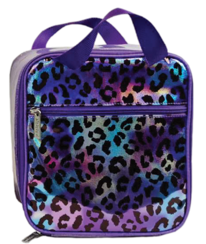 Iscream Leopard Iridescent Lunch Box