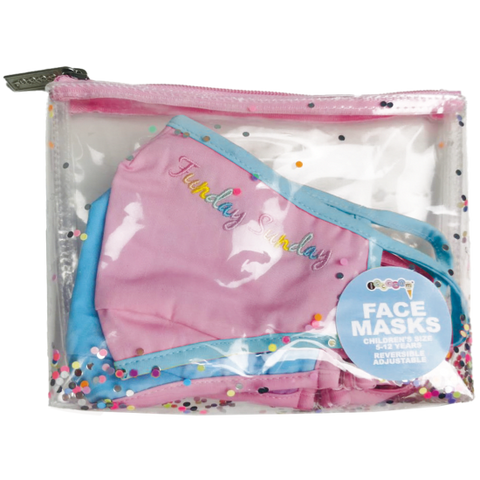 Iscream Rainbow Days of the Children's Reversible Face Mask Set