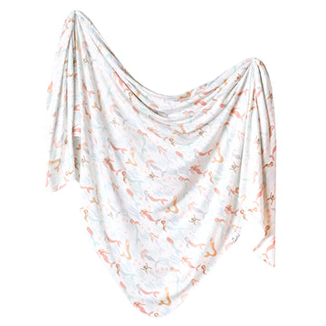 Copper Pearl Coral Knit Swaddle Blanket