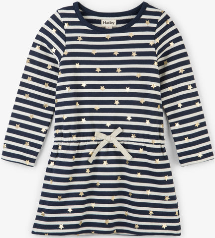 Hatley Starry Stripes French Terry Dress - Basically Bows & Bowties
