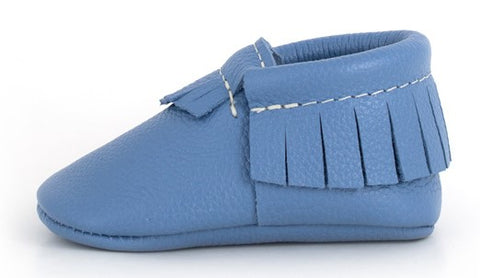 Freshly Picked Faded Denim Moccasins - Basically Bows & Bowties