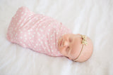 Copper Pearl Lucy Knit Swaddle Blanket Basically Bows & Bowties