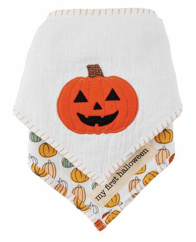 Mud Pie Halloween Bandana Bib Set