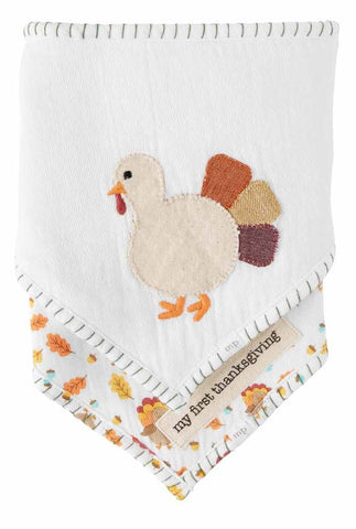 Mud Pie Thanksgiving Bandana Bib Set