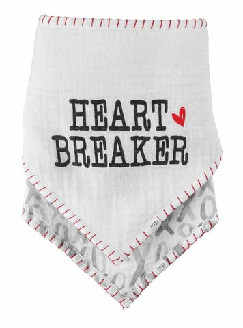 Mud Pie Heartbreaker Bandana Bib Set