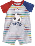 Mud Pie Farm Friends Raglan One Piece - Basically Bows & Bowties