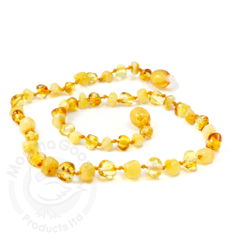 Amber Goose Baroque Lemon & Milky Necklace