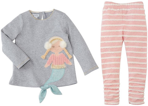 Mud Pie Winter Mermaid Tunic & Legging Set
