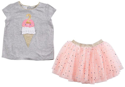 Mud Pie Birthday Confetti Tutu Set-2nd Birthday