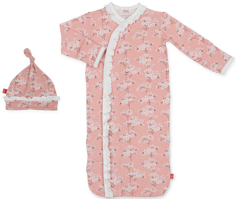 Magnetic Me Cherry Blossom Modal Magnetic Sack Gown & Hat Set