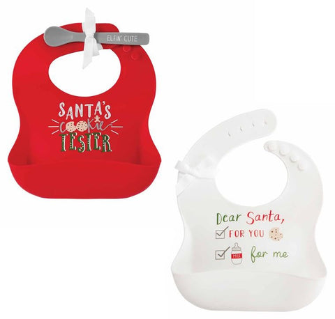 Mud Pie Christmas Silicone Bib