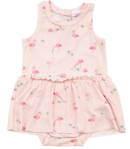 Angel Dear Flamingos Bodysuit with Skirt